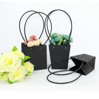 Best Wholesale Pot Plants Waterproof Flower Packaging Carry Kraft Paper Bag, High Quality Flower Packaging Paper Bag wholesale