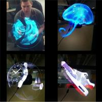 Cheap Electronic Hologram Projector 3D LED Holographic Advertising Display Fan 42cm Diameter for sale