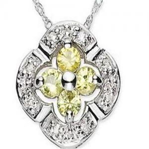 Best Canary Tourmaline & Diamond Pendant wholesale