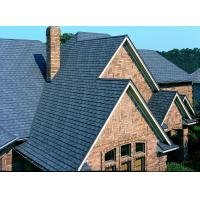China Eco Friendly Aluminum Stone Coated Roof Tiles / Black Roof Tiles on sale