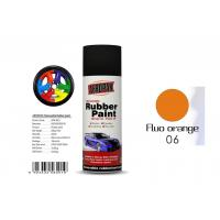 Best 400ml Rubber Coat Spray Paint With Fluo Orange Color APK-8201-6 wholesale