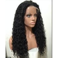 Mixed Color 100% Peruvian glueless human hair full lace wigs With Combs / Straps