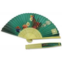 Best Peacock Pattern Hand Held Paper Fans Chinese Style Both Side Painting wholesale