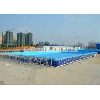 Best UV Resistant Metal Frame Pools / Above Ground Swimming Pool With Strong PVC wholesale