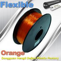 Best Orange 3.0mm / 1.75mm Rubber  Flexible 1.0KG / Rolls 3D Printer Filament wholesale