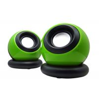 Best Multi Function USB Small Computer Speakers 2.0 Green Color 110*90*90mm wholesale