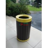 Best Waterproof Round WPC Composite Trash Cans Rot Resistance Φ390 X 660mm Customized wholesale
