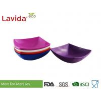 China Durable Square Melamine Plates Bowls BPA Free Custom Made With Printing Logo on sale