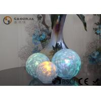 Best Set Of 3 Glass Ball Lights Surface With Ice Like Finish OEM / ODM Available wholesale