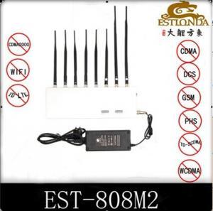 Best 34dbm GPS Signal Jammer Wifi / 4G Signal Blocker with 8 Antennas wholesale