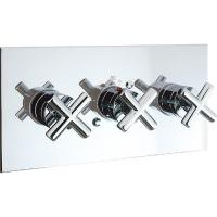 Best Three Handles 2 Way Thermostatic Shower Valve Perfect Thermostatic Control wholesale
