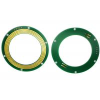 FR-4 PCB Disc Slip Ring Through Bore Power Signal Combinations For Excavator Uses