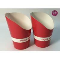 Best 9oz Height 120mm French Fries Cup , Double PE Coated Hot Chip Cup wholesale