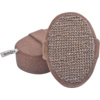 Best Eco - Friendly Hemp Oval Bath Body Scrubber Pad No Stimulation With Elastic Belt wholesale