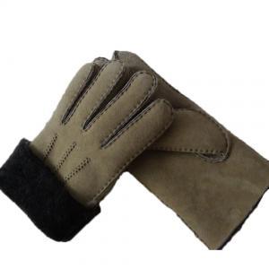 Best Spanish Merino Sheepskin Double Face Leather Winter Gloves Hand Sewn Men Gloves wholesale
