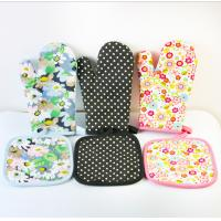 Best OEM Printed Oven Gloves , Cute Oven Mitts Various Colors Slip Resistant wholesale
