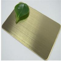 China Foshan 304 stainless steel copper color bright brushed finish sheet price 0.8mm 1.0mm 1.2mm thickness on sale