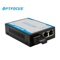 Best Durable 10 / 100M Fiber Optic Ethernet Switch 1310nm With LED Indicators wholesale