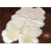 Best Real Sheepskin Rug Natural White Long Wool New Zealand Sheepskin Carpet Quad wholesale
