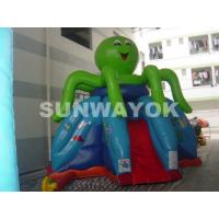 Best Octopus Commercial Inflatable Slide To Rent , Mini Blow Up Water Slide For Kids wholesale