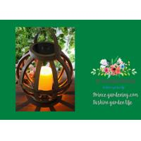 Best Cross Weaving Rattan Basket Solar Garden Lights With AA 1.2V / 600MAH Battery wholesale