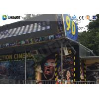 Cheap Metal Flat Screen 9D Movie Theater , Truck Mobile Cinema Private Customized for sale