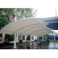Steel Sling Tightened Sail Car Parking Tensile Structure Car Shade Shelters UVA Resistant