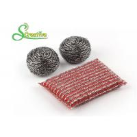 Best Elastic Sponge Spiral Stainless Steel Scouring Ball For Metal Kitchenware Strong Cleaning wholesale