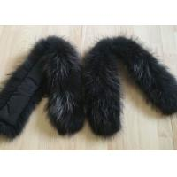 Best Raccoon fur collar Colorful Dyed Real Chinese Fox Fur Coat 90 *15cm for Down Coat wholesale