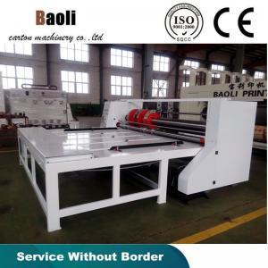 China Corrugated cardboard semi-auto slotting machine/carton box making machine on sale