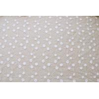 Best 51'' Width White Embroidered Tulle Nylon Lace Fabric , Floral Stretch Lace Fabric wholesale