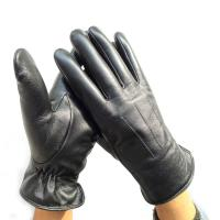 Best Black Winter Motorcycle Gloves , Double Faced Sheepskin Mens Racing Gloves wholesale