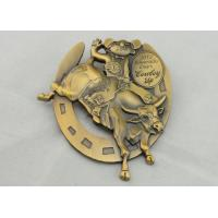 Best 4.0mm High Relief 3D Die Cast Medals By Antique Gold Plating For Gift wholesale
