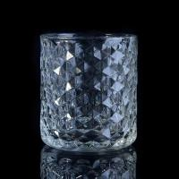 Best Popular Home use candle glass containers Custom Clear Diamond Shape wholesale