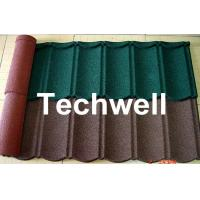 Best Iron Colored Stone Coated Roof Tile Machine , Corrugated Automatic Roof Tile Making Machine wholesale