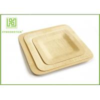 Best Large Square Disposable Bamboo Plates And Utensils Environmental Protection wholesale