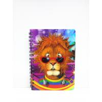 Best 400 DPI PET / PP A6 3D Lenticular Notebook / Spiral Diary Book wholesale