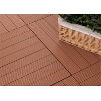 Cheap Moisture - Proof Wood Plastic Composite Decking with Wood Grain Surface for sale