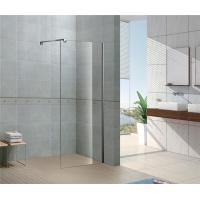 China Installed Easily Walk In Glass Shower Enclosures 8 MM Tempered Glass with Chromed Profile on sale