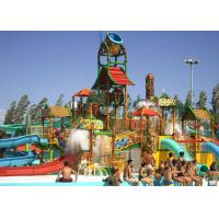 Best Water House Theme Park Construction Platform 21*18*9m Family Fun Water Slide wholesale