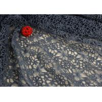 Best Flower Water Soluble Polyester Guipure Lace Fabric By The Yard Highly Stain Resistant wholesale
