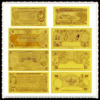Best Australia Old AUD Gold Banknote In 24k Gold Leaf With Double Logo wholesale