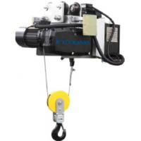 China Headroom Electric Wire Rope Hoist With Motor Trolley Designed Double Speed on sale