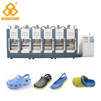 Best Two Stations EVA Shoes Slipper Making Machine With Full Automatic Open - Close Mould wholesale