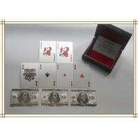 Best Custom Playing Cards $100 dollar with Gold foil and PET / silver foil wholesale