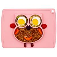 Best Silicone Placemat - Toddler Plates BPA-Free FDA Approved Feeding Plate Mat 11x8x1 inch for Babies Kids wholesale