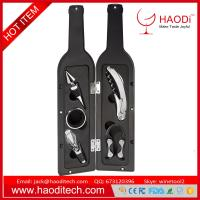 China Wine Bottle Corkscrew Opener Kit Drip Ring Foil Cutter and Wine Pourer Stopper on sale
