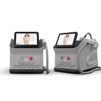 Cheap Compact Design Laser Depilation Machine , Portable Laser Hair Removal Equipment for sale