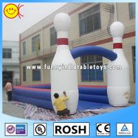 China White Inflatable Sports Games Human Bowling Ball Outside Sport on sale
