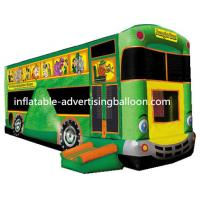 Best Giant Bus Inflatable Castle Bouncer Green For Rental wholesale